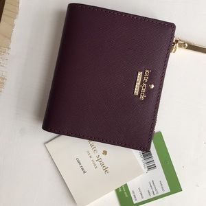Authentic burgundy Kate Spade wallet